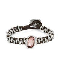 Uno De 50 | Pink Rhinestone Toggle Bracelet | Lyst