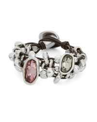 Uno De 50 - Metallic Chica Mermelada Rhinestone Toggle Bracelet - Lyst
