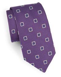 Brooks Brothers | Purple Classic Geometric Silk Tie for Men | Lyst