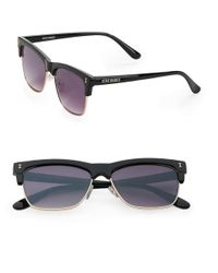 Steve Madden | Black 51mm Square Sunglasses | Lyst
