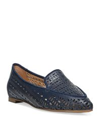 Franco Sarto | Blue Soho Point-toe Cutout Flats | Lyst