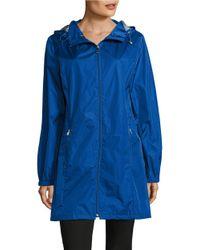 Calvin Klein | Blue Packable Water Resistant Jacket | Lyst
