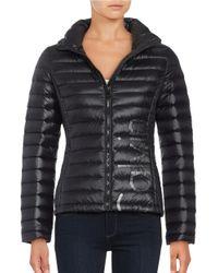 Calvin Klein | Black Hooded Packable Down Coat | Lyst