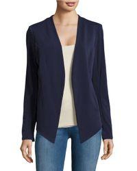 BCBGeneration | Blue Open-front Asymmetical Jacket | Lyst