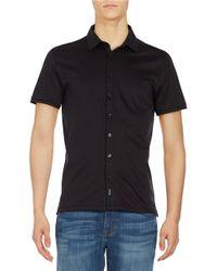 Calvin Klein | Black Short Sleeve Sportshirt for Men | Lyst