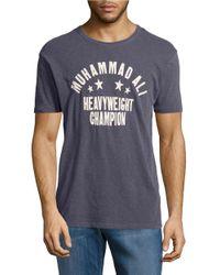 Lucky Brand | Gray Muhammad Ali Crewneck T-shirt for Men | Lyst
