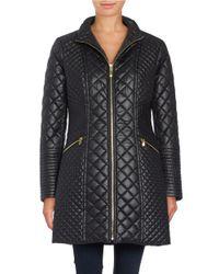 Via Spiga | Pink Quilted Zip-front Coat | Lyst