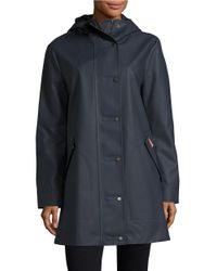 HUNTER | Blue Solid Long-sleeve Waterproof Jacket | Lyst