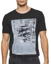 Calvin Klein Jeans | Black Military Logo Crewneck Tee for Men | Lyst