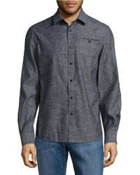 Kenneth Cole | Blue Chambray Sportshirt for Men | Lyst