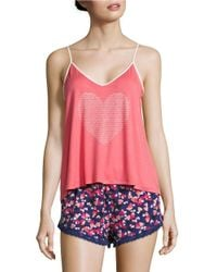 Juicy Couture | Pink Cami And Shorts Pj Sleep Set | Lyst