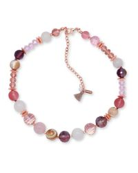 Lonna & Lilly | Pink Beaded Collar Necklace | Lyst