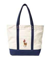 Polo Ralph Lauren | Blue Big Pony Canvas Tote | Lyst