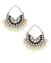 Jenny Packham | Blue Half Moon Beaded Earrings | Lyst