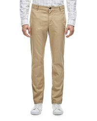 Lacoste | Natural Regular Fit Twill Pants for Men | Lyst
