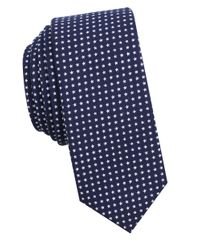 Original Penguin   Blue Star-print Cotton Tie for Men   Lyst