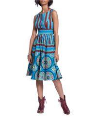Plenty by Tracy Reese | Blue Printed Sleeveless Dress | Lyst