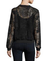 Ella Moss Black Lace Bomber Jacket