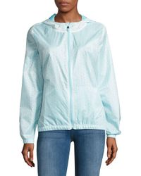 Nanette Lepore - White Water-resistant Floral Cutout Hooded Jacket - Lyst