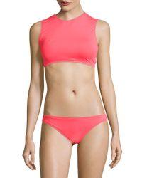 Vince Camuto - Pink Figi Solids Cutout Bikini Top - Lyst