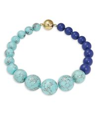 Trina Turk | Blue Beaded Necklace | Lyst
