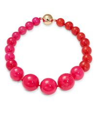 Trina Turk | Pink Beaded Necklace | Lyst