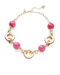 kate spade new york | Pink Second Nature Statement Collar Necklace | Lyst