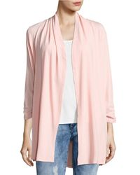 Lord & Taylor | Pink Crepe Open-front Cardigan | Lyst