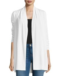 Lord & Taylor | White Crepe Open-front Cardigan | Lyst