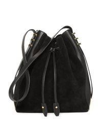 Luana Italy - Black Cecilia Leather Bucket Bag - Lyst
