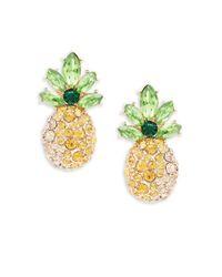 ABS By Allen Schwartz | Metallic Pineapple Drop Earrings | Lyst