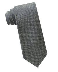 Calvin Klein | Green Silk And Linen Textured Tie for Men | Lyst