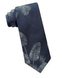 Calvin Klein | Blue Urban Fern Textured Silk Tie for Men | Lyst