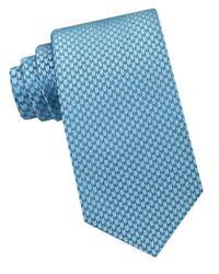 Calvin Klein   Blue Woven Silk Tie for Men   Lyst