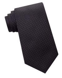 Calvin Klein   Black Woven Silk Tie for Men   Lyst