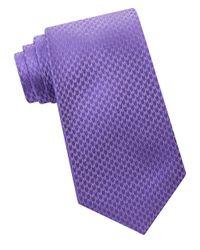 Calvin Klein | Purple Woven Silk Tie for Men | Lyst