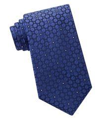 Calvin Klein   Blue Embroidered Silk Tie for Men   Lyst