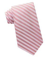 Calvin Klein | Pink Woven Striped Tie for Men | Lyst