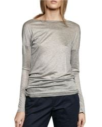 French Connection | Gray Long-sleeve Jersey T-shirt | Lyst