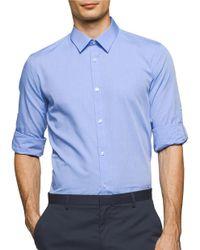 Calvin Klein | Blue Roll-tab Sleeve Sportshirt for Men | Lyst