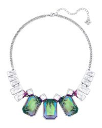 Swarovski | Blue Faceted Crystal Necklace | Lyst