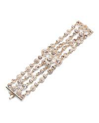 Givenchy - Metallic Austrain Glass Bracelet - Lyst