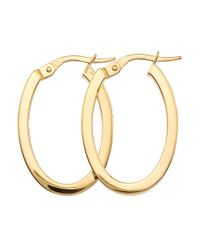 Roberto Coin - Metallic Perfect Gold Hoops 18k Yellow Gold Earrings- 0.98in - Lyst