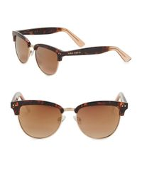 Vince Camuto | Brown 57mm Round Sunglasses | Lyst