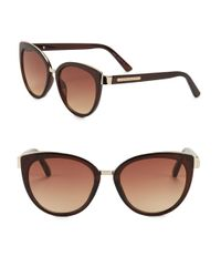 Vince Camuto | Brown 57mm Cat Eye Sunglasses | Lyst