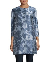 Weekend by Maxmara | Blue Pucci Jacquard Coat | Lyst