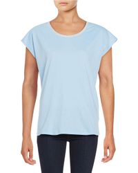 MICHAEL Michael Kors | Blue Chain-accented Knit Tee | Lyst