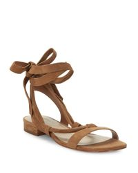 424 Fifth | Brown Yasmin Suede Sandals | Lyst