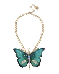 Betsey Johnson | Multicolor Buzz Off Epoxy Butterfly Pendant Necklace | Lyst