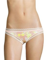 Calvin Klein   Black Lace-trimmed Bikini Panties   Lyst